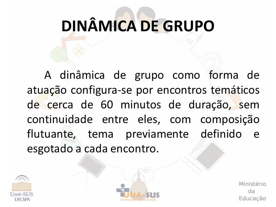 DINÂMICA DE GRUPO