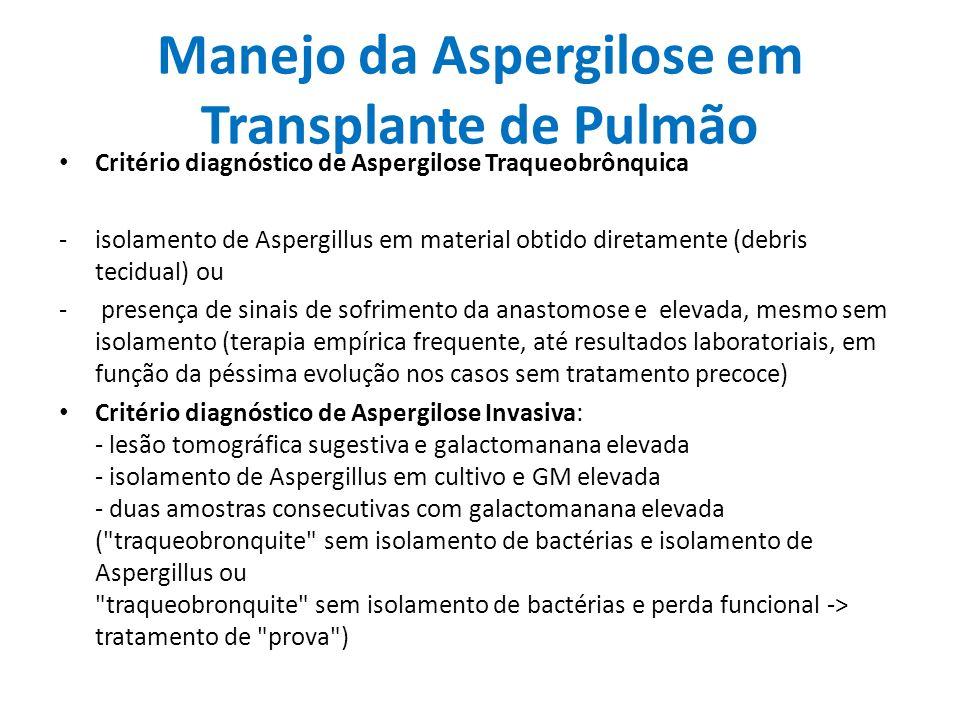 Manejo da Aspergilose em Transplante de Pulmão