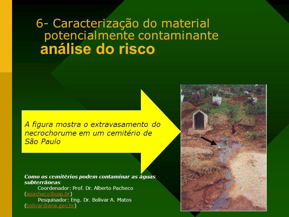 6- Caracterização do material potencialmente contaminante análise do risco