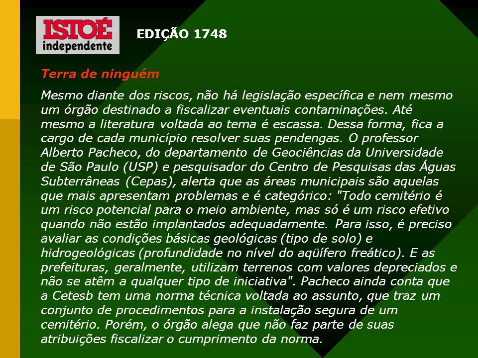 EDIÇÃO 1748Terra de ninguém.