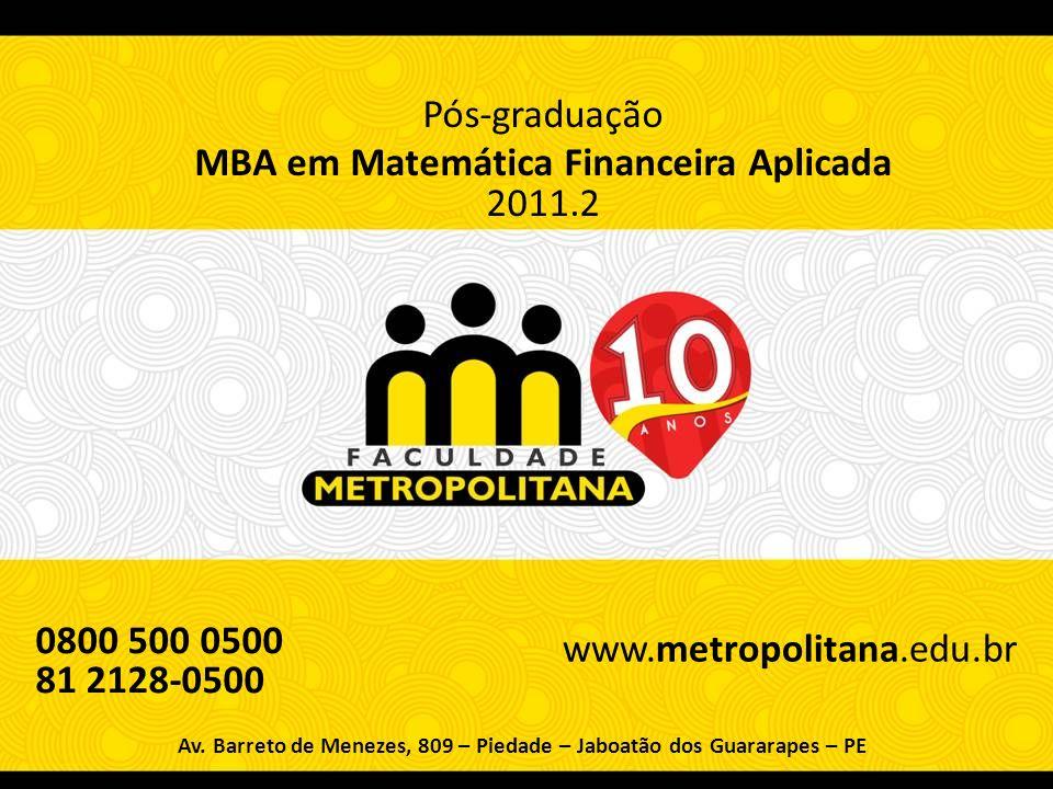 MBA em Matemática Financeira Aplicada