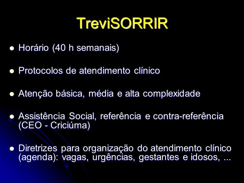 TreviSORRIR Horário (40 h semanais) Protocolos de atendimento clínico