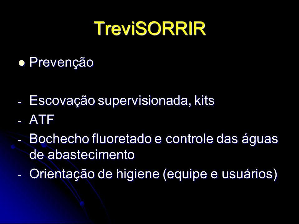 TreviSORRIR Prevenção Escovação supervisionada, kits ATF