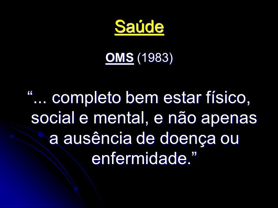 Saúde OMS (1983) ...