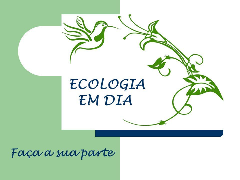ECOLOGIA EM DIA Faça a sua parte
