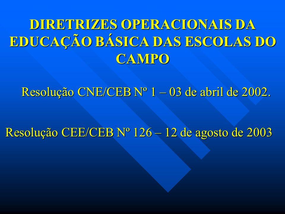 DIRETRIZES OPERACIONAIS DA EDUCAÇÃO BÁSICA DAS ESCOLAS DO CAMPO