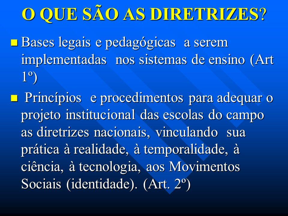 O QUE SÃO AS DIRETRIZES Bases legais e pedagógicas a serem implementadas nos sistemas de ensino (Art 1º)