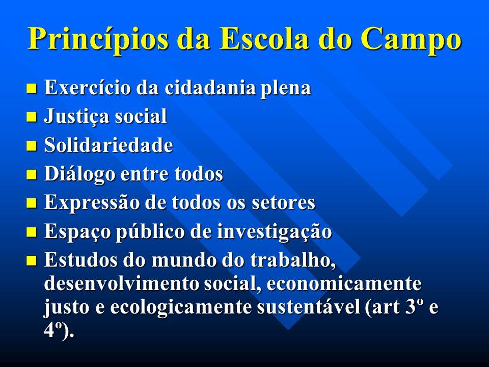 Princípios da Escola do Campo