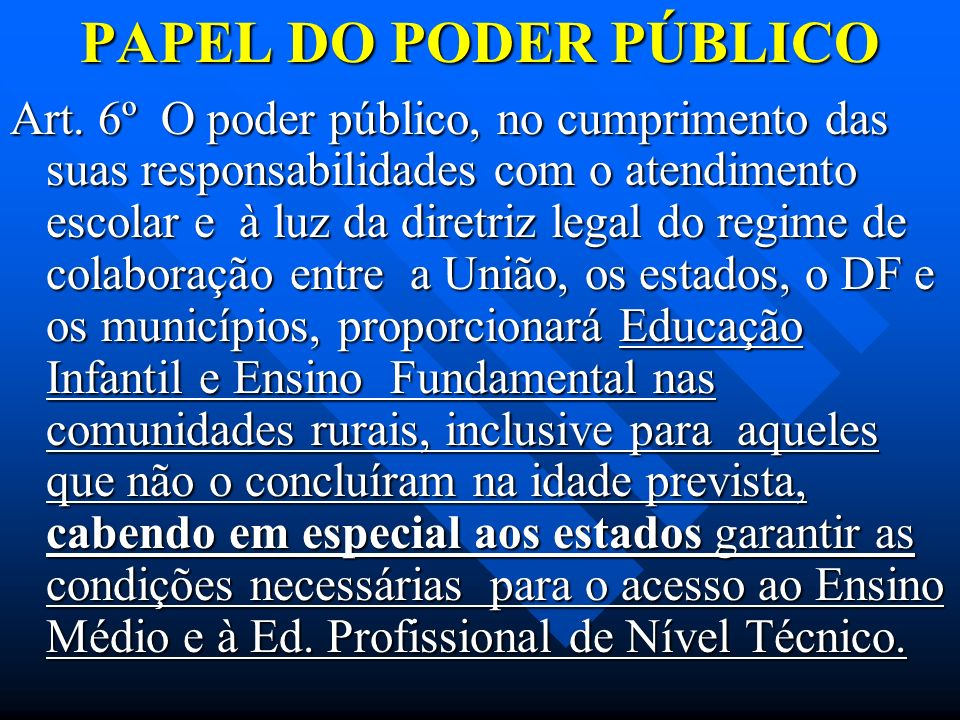 PAPEL DO PODER PÚBLICO