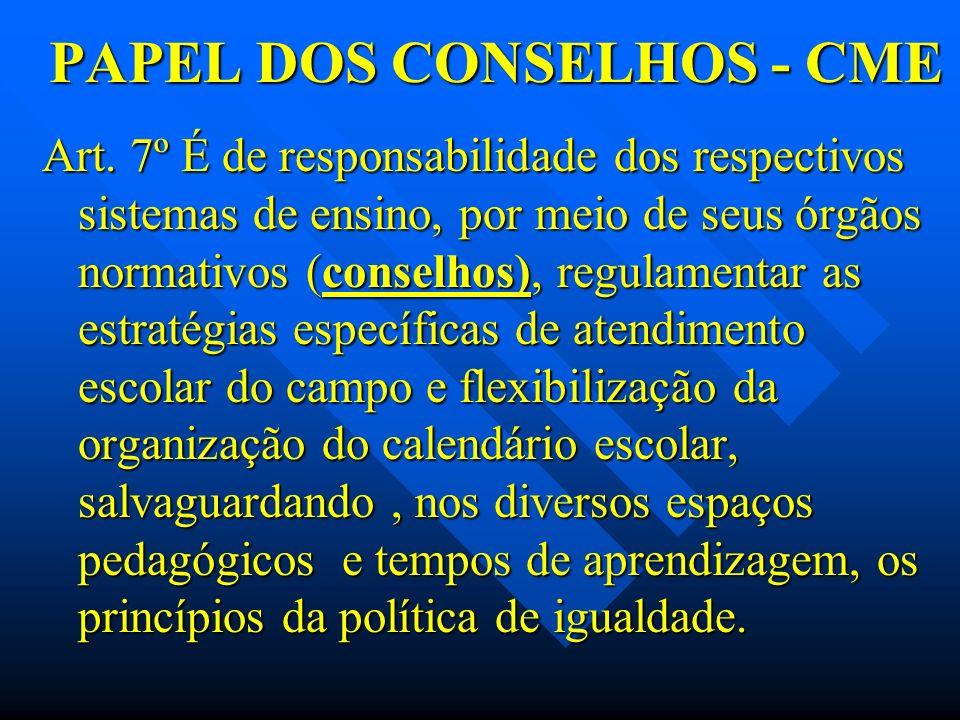 PAPEL DOS CONSELHOS - CME
