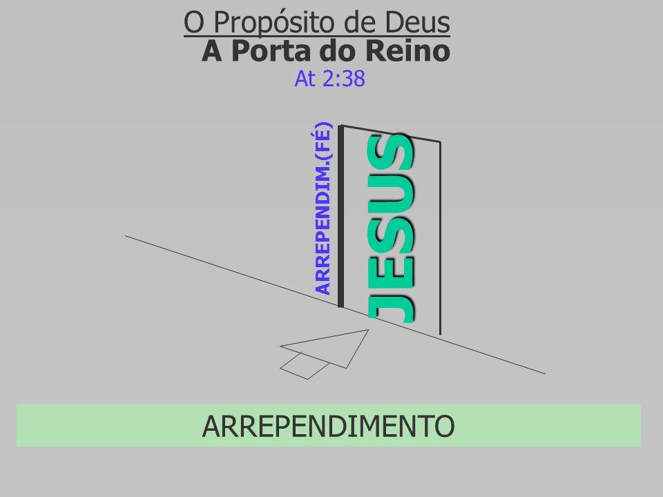 JESUS O Propósito de Deus A Porta do Reino ARREPENDIMENTO At 2:38