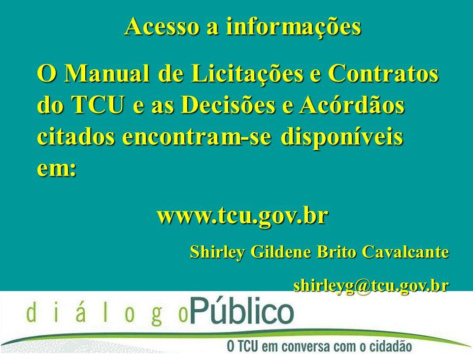 Acesso a informações www.tcu.gov.br