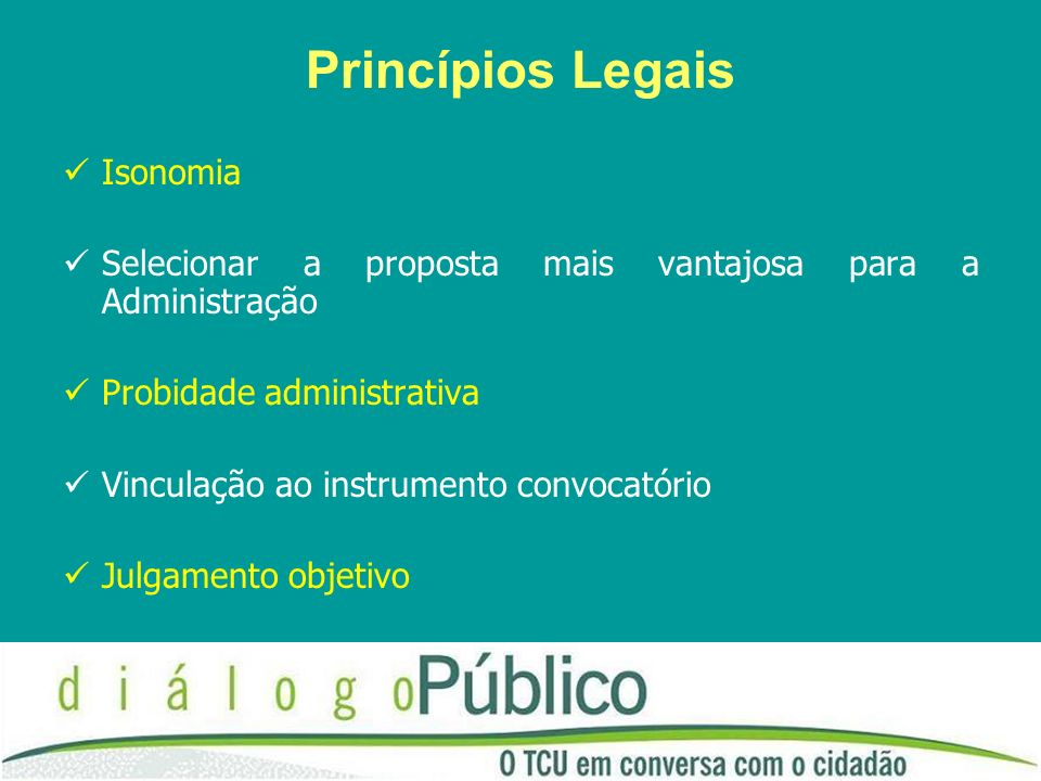Princípios Legais Isonomia