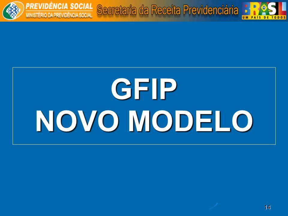GFIP NOVO MODELO