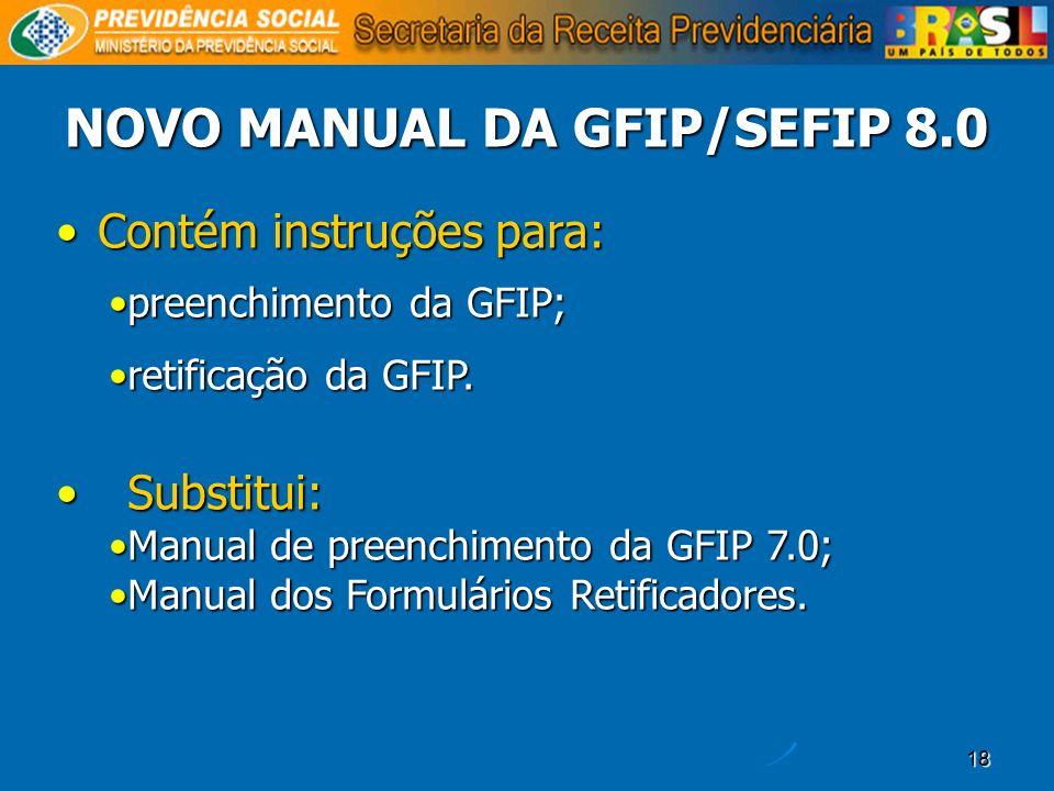 NOVO MANUAL DA GFIP/SEFIP 8.0