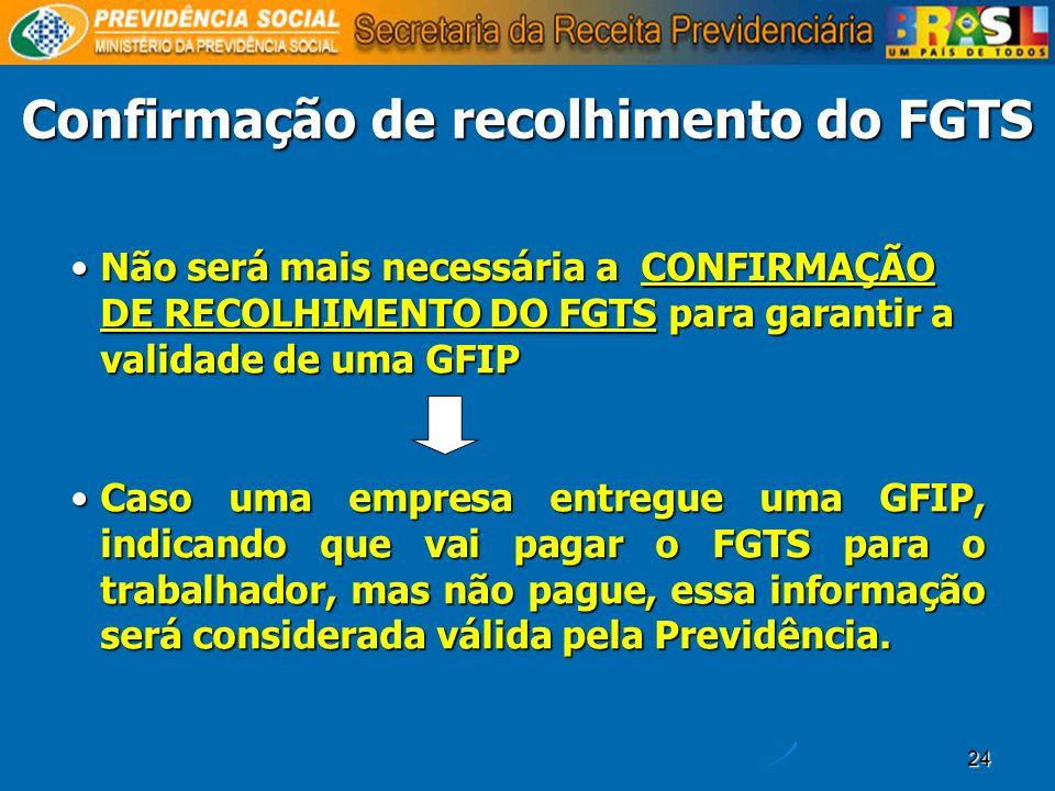 Confirmação de recolhimento do FGTS