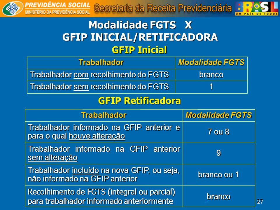 GFIP INICIAL/RETIFICADORA
