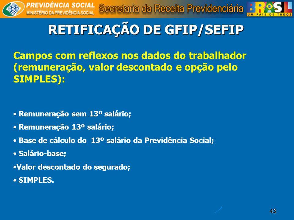 RETIFICAÇÃO DE GFIP/SEFIP