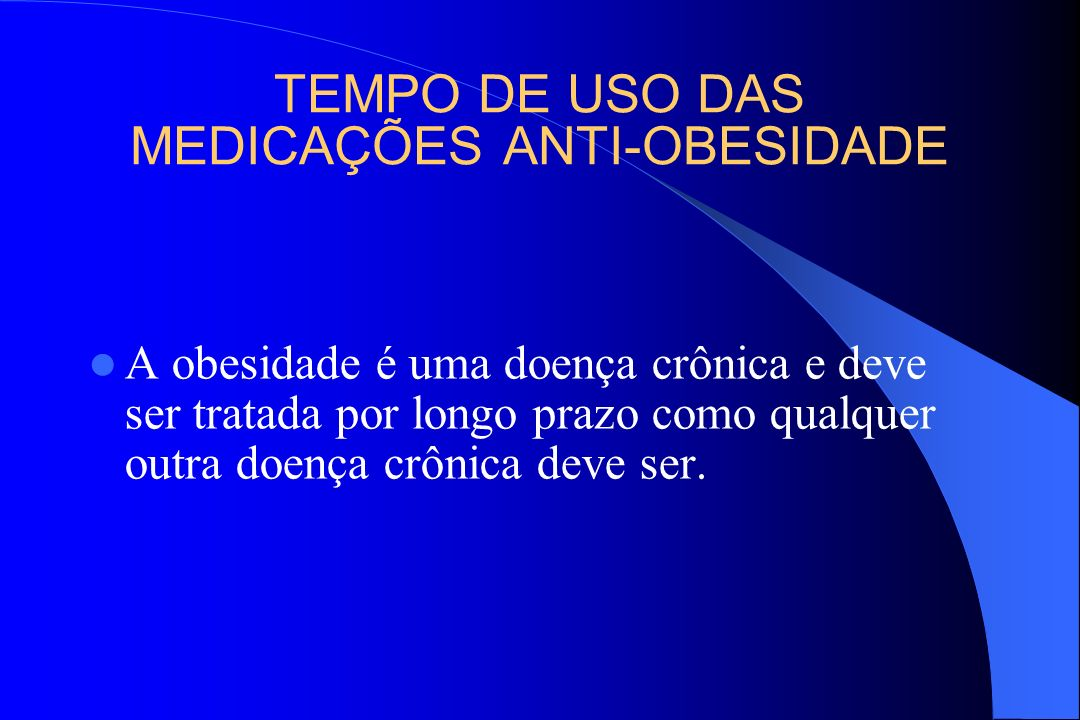 TEMPO DE USO DAS MEDICAÇÕES ANTI-OBESIDADE