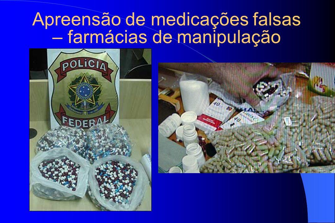 Apreensão de medicações falsas – farmácias de manipulação