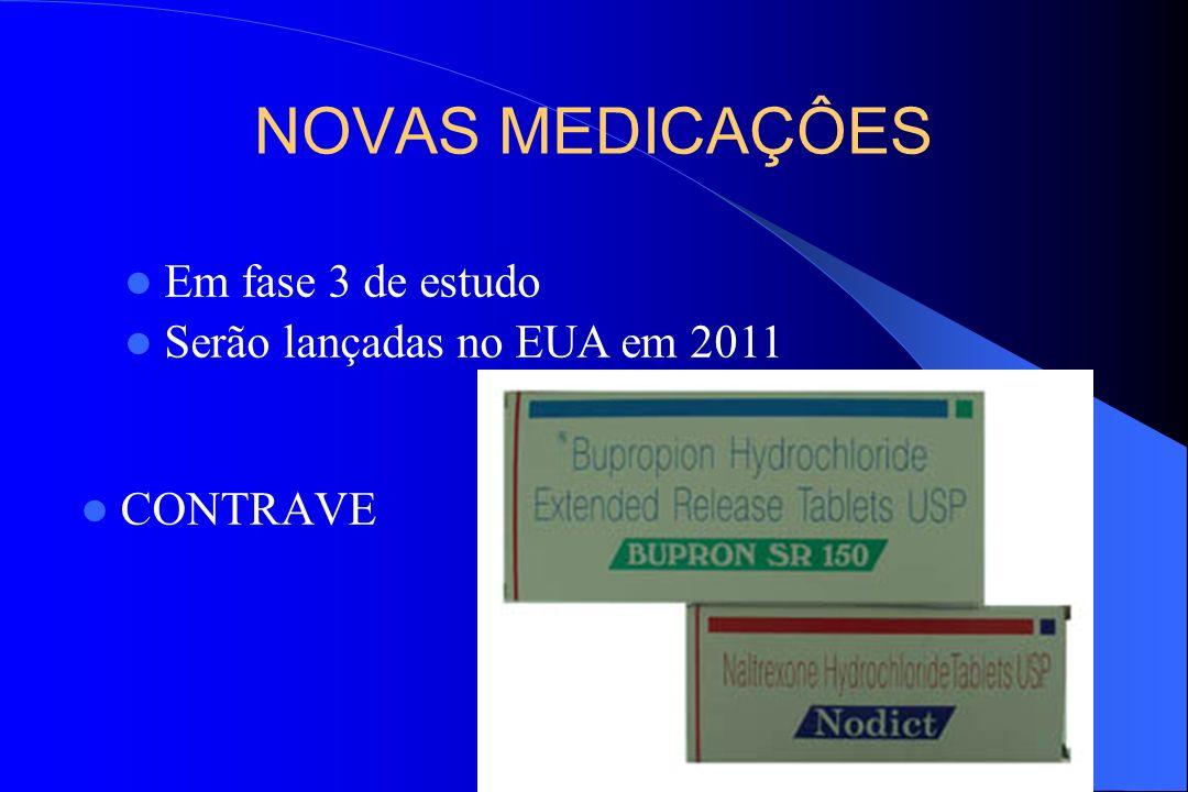 NOVAS MEDICAÇÔES Em fase 3 de estudo Serão lançadas no EUA em 2011