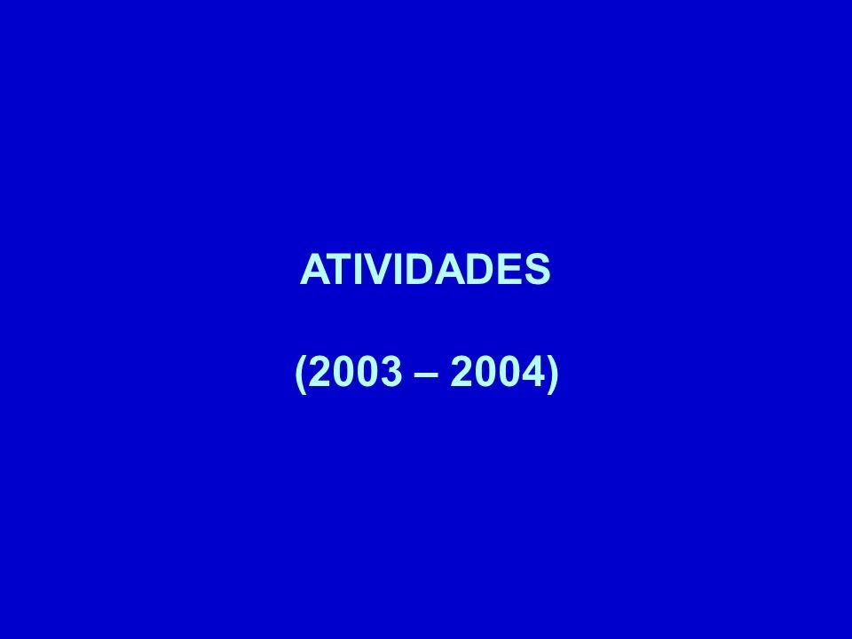 ATIVIDADES (2003 – 2004)