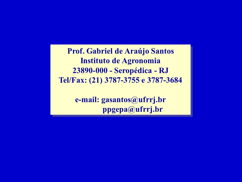 Prof. Gabriel de Araújo Santos Instituto de Agronomia