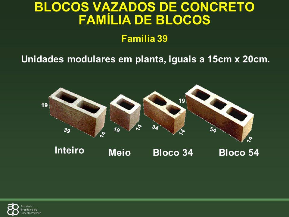 BLOCOS VAZADOS DE CONCRETO FAMÍLIA DE BLOCOS