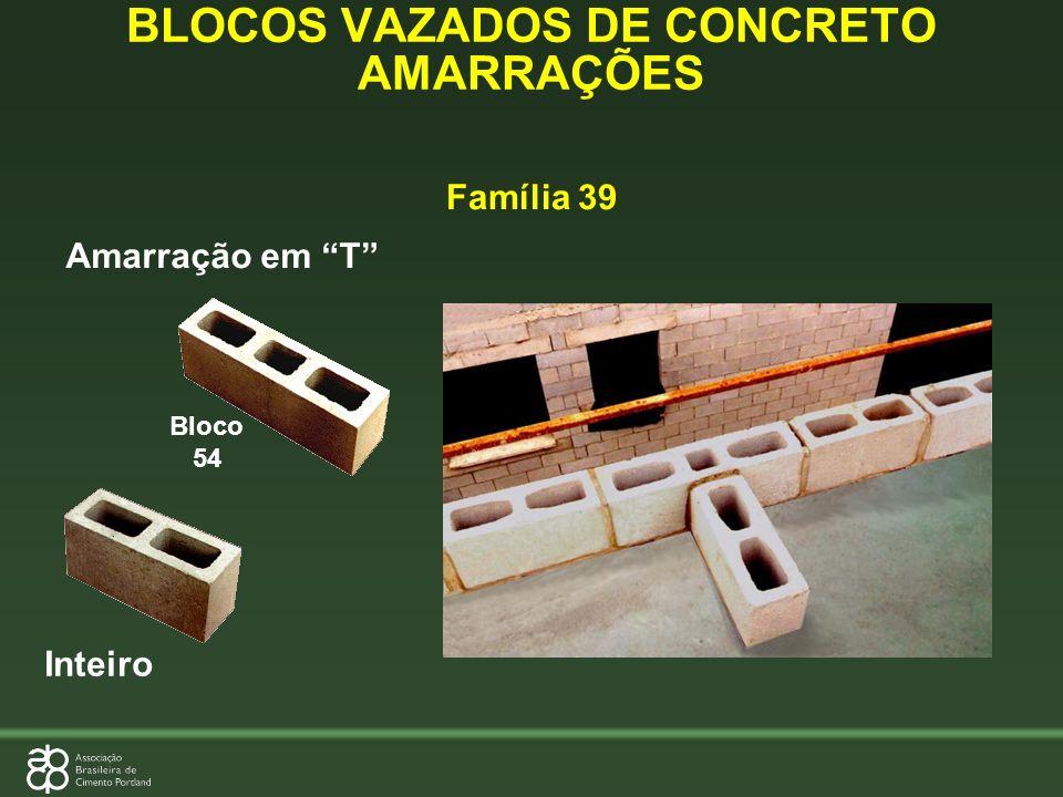 BLOCOS VAZADOS DE CONCRETO AMARRAÇÕES