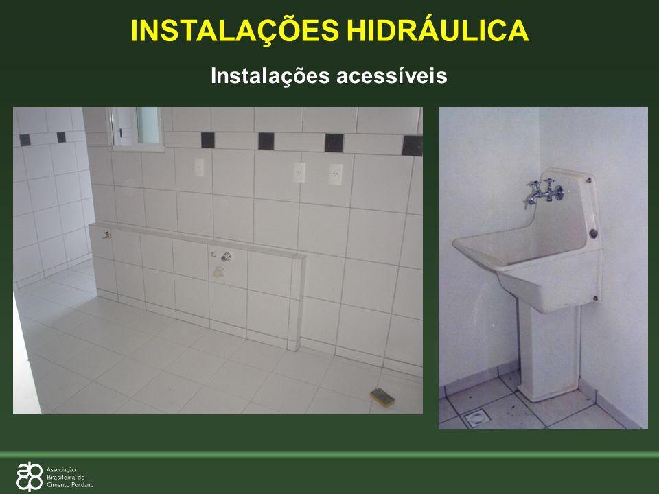 INSTALAÇÕES HIDRÁULICA Instalações acessíveis