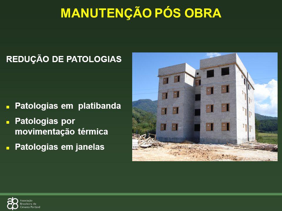 MANUTENÇÃO PÓS OBRA REDUÇÃO DE PATOLOGIAS Patologias em platibanda