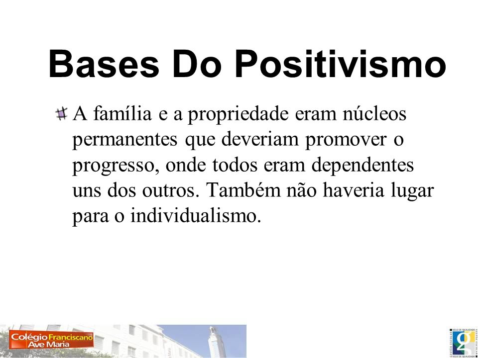 Bases Do Positivismo