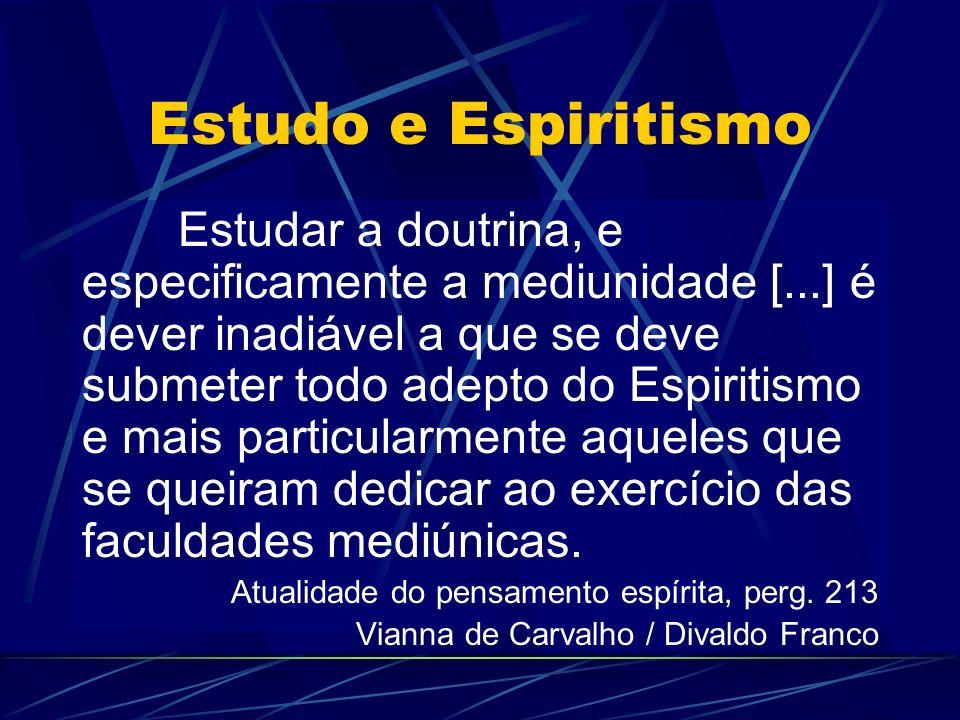 Estudo e Espiritismo