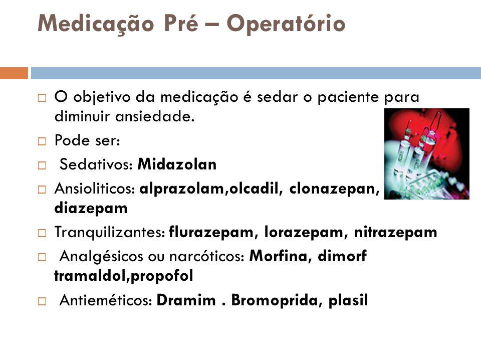 Medicação Pré – Operatório