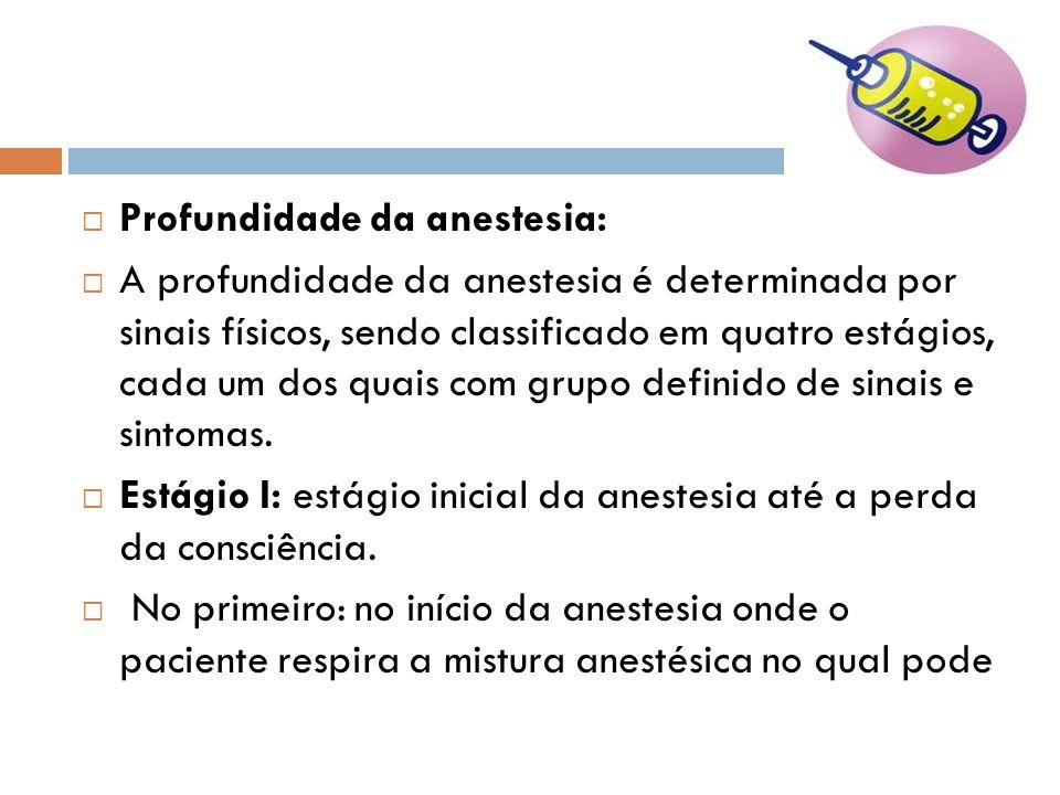 Profundidade da anestesia: