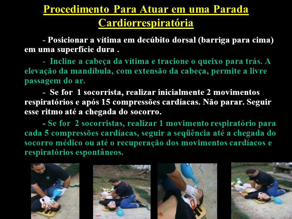 Procedimento Para Atuar em uma Parada Cardiorrespiratória