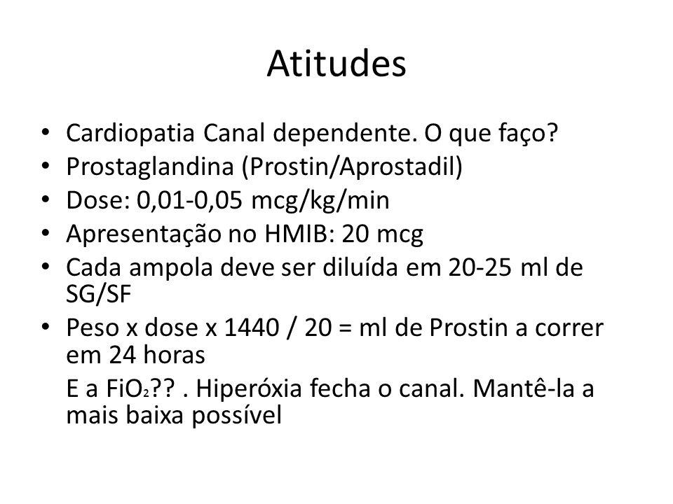 Atitudes Cardiopatia Canal dependente. O que faço