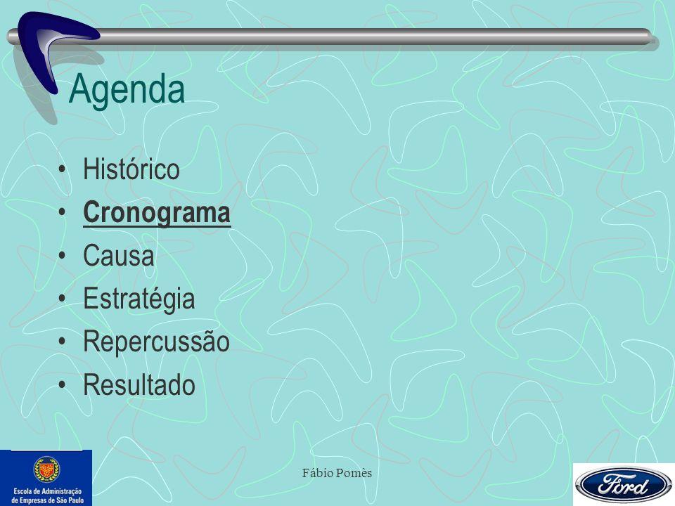 Agenda Histórico Cronograma Causa Estratégia Repercussão Resultado
