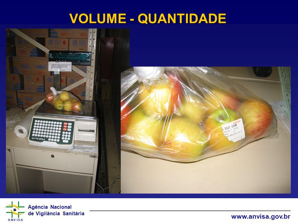VOLUME - QUANTIDADE