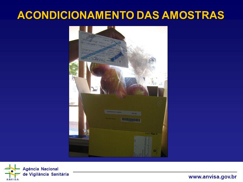 ACONDICIONAMENTO DAS AMOSTRAS