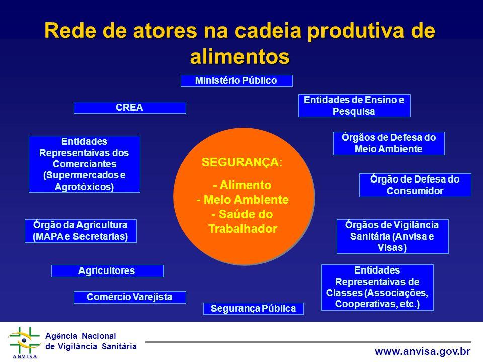 Rede de atores na cadeia produtiva de alimentos