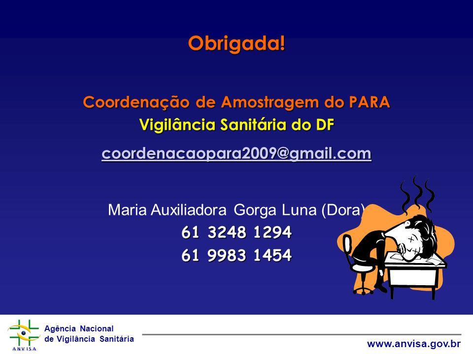 Coordenação de Amostragem do PARA Vigilância Sanitária do DF