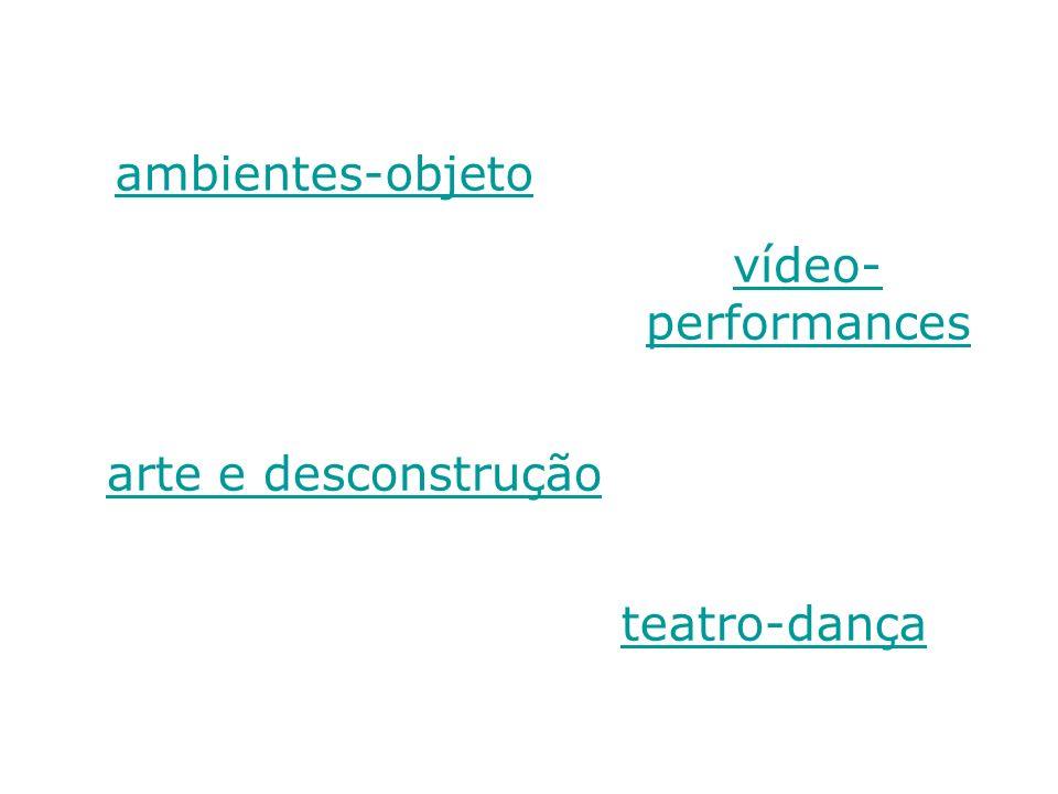 ambientes-objeto vídeo-performances arte e desconstrução teatro-dança