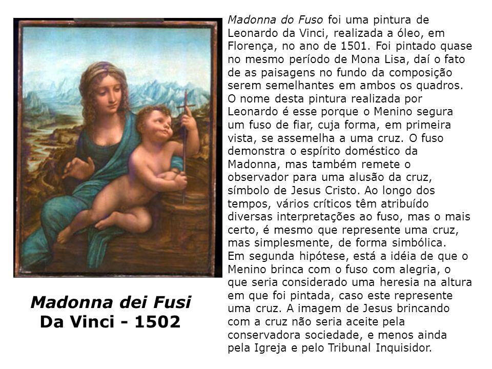 Madonna dei Fusi Da Vinci - 1502