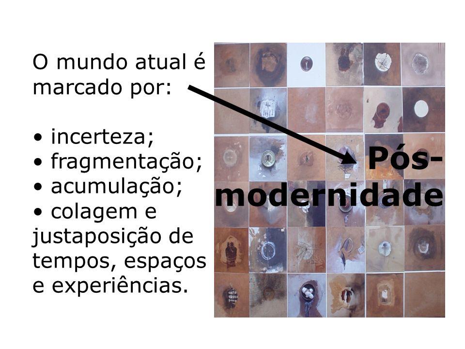 Pós-modernidade O mundo atual é marcado por: incerteza; fragmentação;