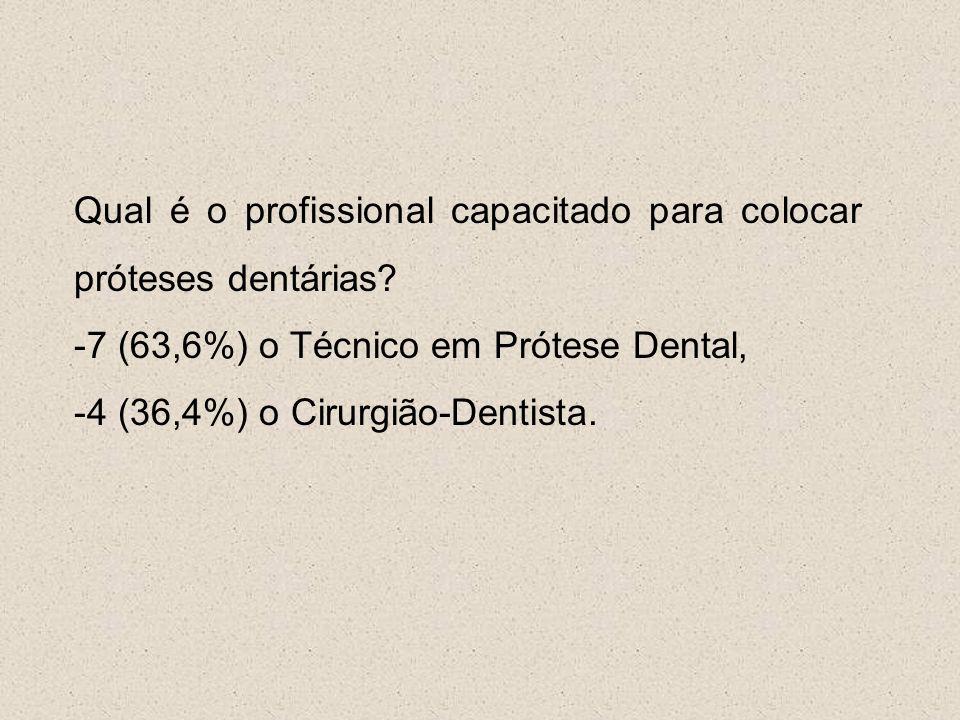 Qual é o profissional capacitado para colocar próteses dentárias