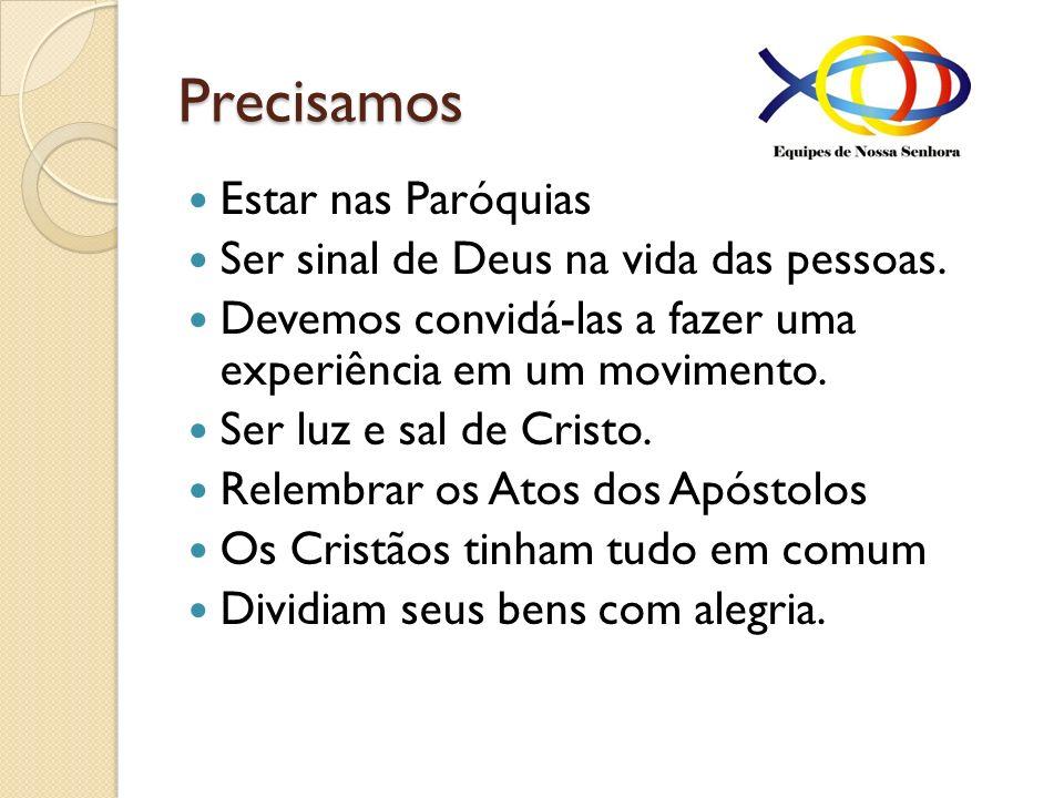 Precisamos Estar nas Paróquias Ser sinal de Deus na vida das pessoas.