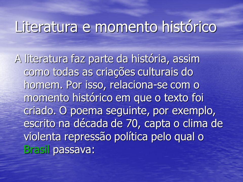 Literatura e momento histórico