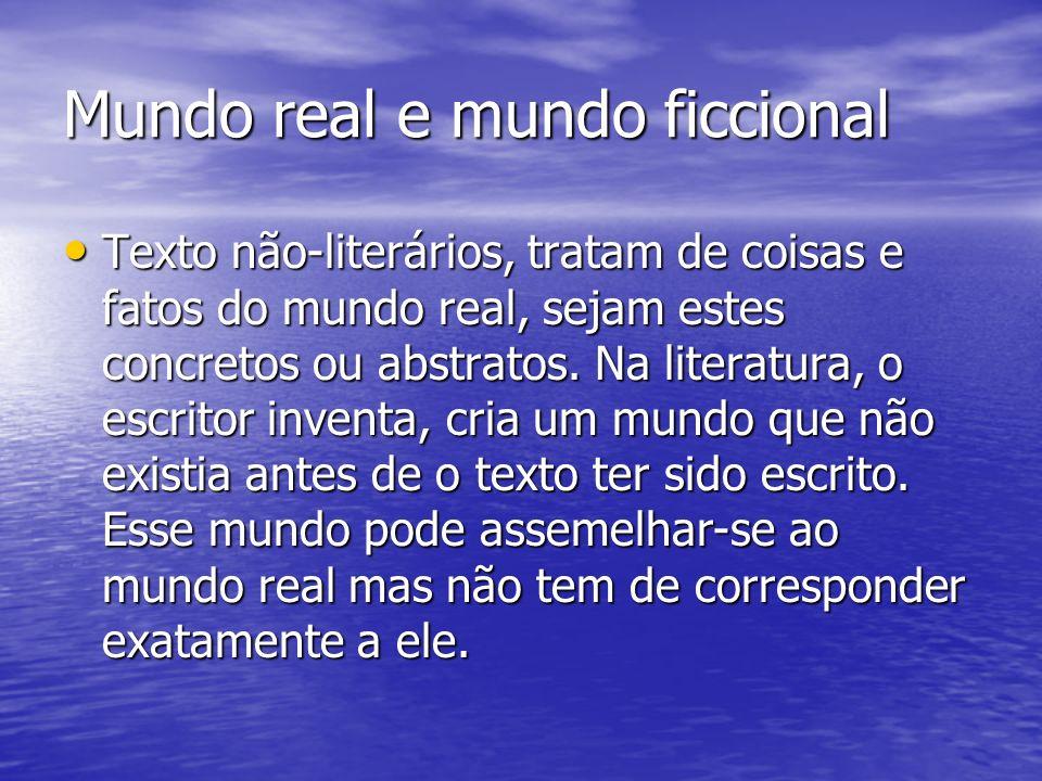Mundo real e mundo ficcional