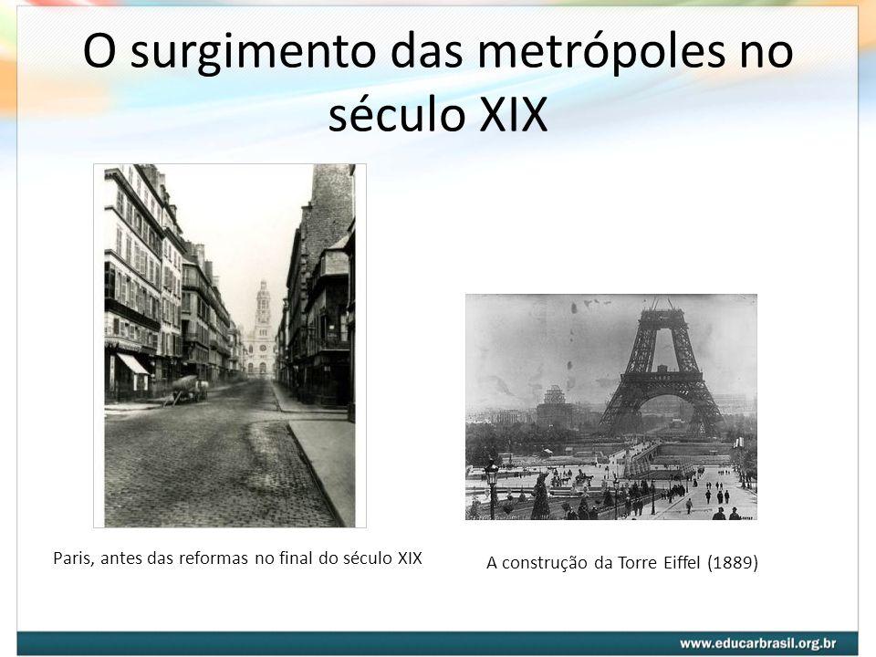 O surgimento das metrópoles no século XIX